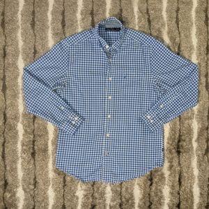 NAUTICA Checkered Long Sleeve Button Up Top